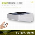 3W solar panel,3.5W led Solar Motion Sensor wall Light With Remote Controller 5