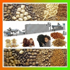 Full automatic pet food floating fish feed making machine processing line