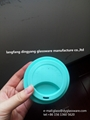 glass coffee cup with silicone lid