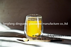drinking glass cup double wall glass thermos cup the cup