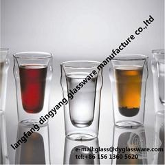 high quality juice wine double wall glass coffee cup