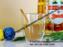 High-Borosilicate Double walled glass coffee mug cup