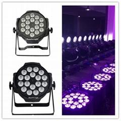 Indoor led par can 18x18w RGBWA+UV led dj lighting led par light