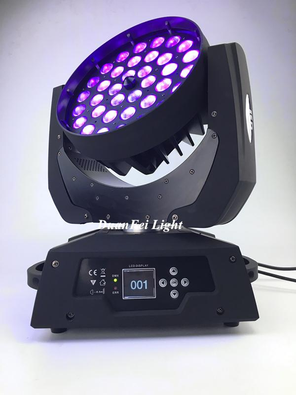 36x18W RGBWAUV 6in1 Circle LED Beam Moving Head Wash with Zoom 6