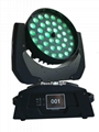 Touch display 36x18w rgbwa+uv rgbwauv 6in1 lyre wash zoom led moving head
