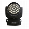 Stage led light 36x18w 6in1 rgbwa uv moving head led wash zoom