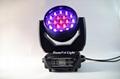 stage lighting wash rgbw led moving head wash zoom light 19x15w 9
