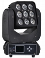 led matirx moving head beam rgbw 4in1 9x12w