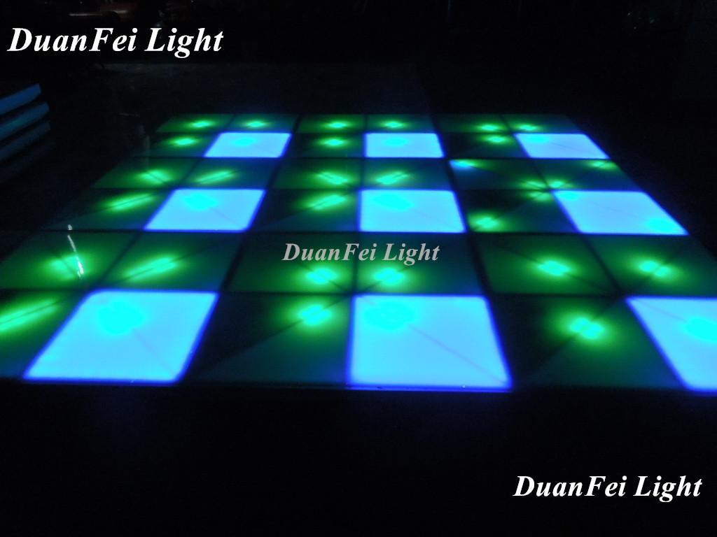 100cm*100cm 10mm dance wedding floor 720 pcs led dance floor for stage disco par 4