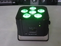 led flat par dmx phone app mini par led 6x18w rgbwauv battery wifi led uplight