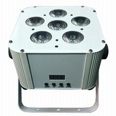 6X18W Wireless Battery Led Uplights RGBWA UV DMX512 Dj led par remote