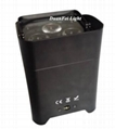 Indoor battery power par 4x18w 6in1 rgbwauv mini led slim par wireless control