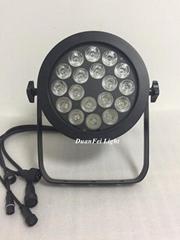 led par outdoor light 18x18w led fixture par rgbwa uv ip65 flat par can round