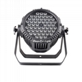 54x3w par led dmx rgb 3in1 led par can waterproof led washer uplight