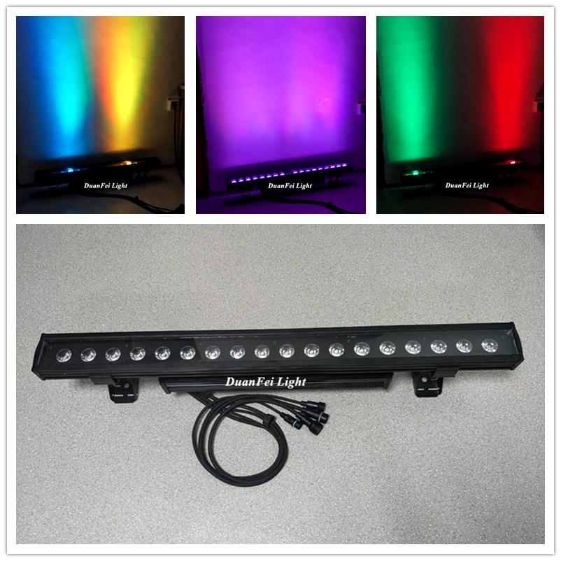 Outdoor 18x10w 4in1 rgbw led linear bar wall washer light dot control