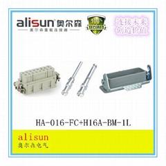 矩形航空插头重载连接器HA-016