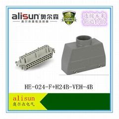 厂家直销重载连接器矩形航空插头HE-024