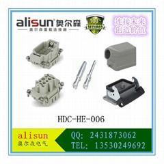厂家直销矩形航空插头接插件重载连接器HE-006