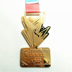 Custom high quality souvenirs medals with colorful design for feast decoration