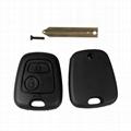 2 Button Key Shell Remote Key Fob Case For Citroen C1 C2 C3 Xsara Saxo Berlingo  2