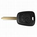 2 Button Key Shell Remote Key Fob Case For Citroen C1 C2 C3 Xsara Saxo Berlingo  3