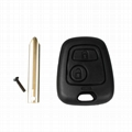 2 Button Key Shell Remote Key Fob Case For Citroen C1 C2 C3 Xsara Saxo Berlingo  5