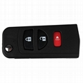 3 Buttons Flip Folding Remote Key Shell Fob Case For NISSAN Quest Murano  2