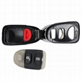 3 Buttons Fob Key Shell Panic Replacement Remote Key Shell Case For HYUNDAI Sant 3