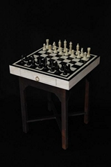 Horn And Bone Inlay Chess Board