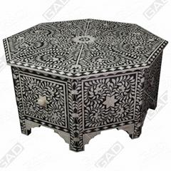 BONE INLAY OCTANGLE TABLE