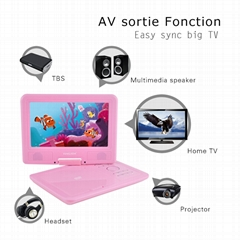 Wholesale 9 Inch portable dvd player with Swivel Screen