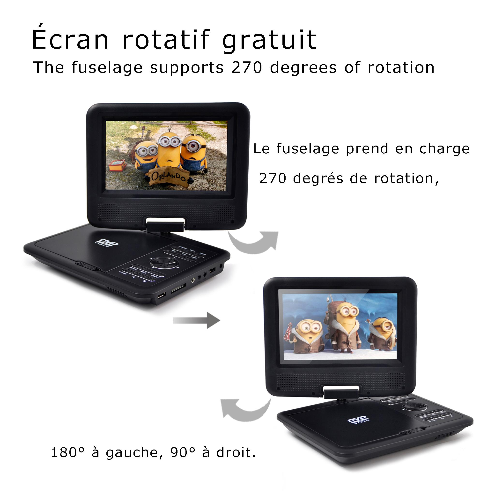 wholesale 7' portable dvd player video format 3