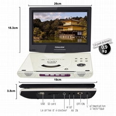 Wholesale 10 INCH portable DVD screen allows 270 degrees of rotation