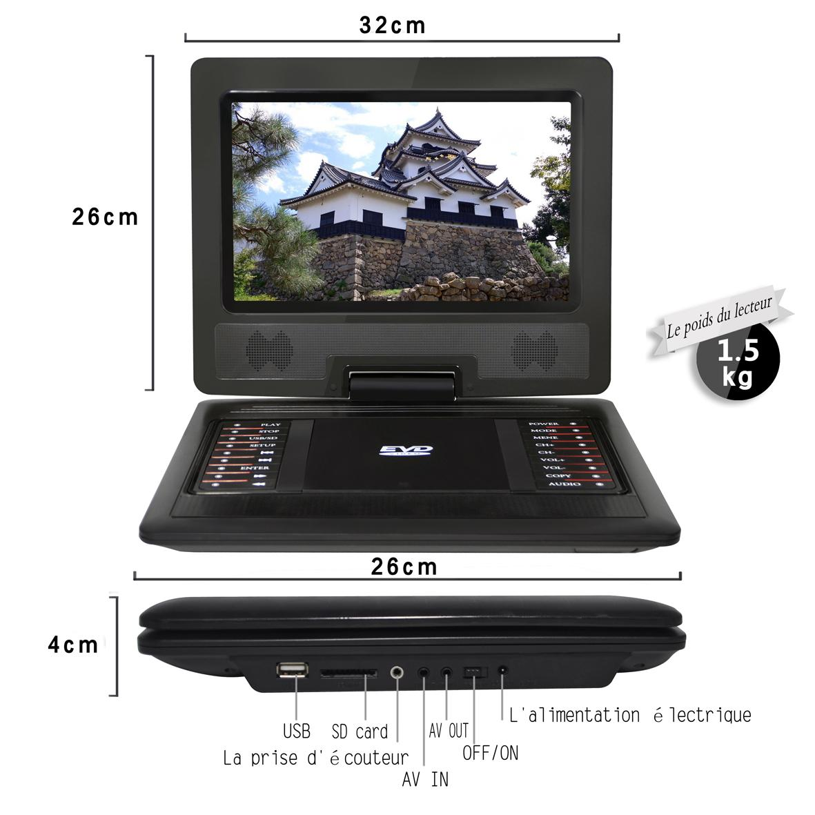 Factory 12 INCH portable DVD player 1