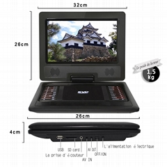 Factory 12 INCH portable DVD player