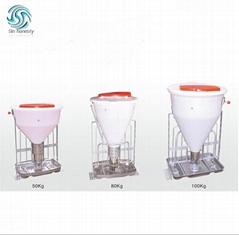 Automatic pig feeder dry wet feeder