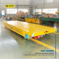 Industrial steel carts rail mounted transfer trolley with po
