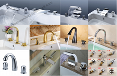 Bathroom Hot and Cold Wall Mounted Brass Tap Concealed Basin Faucet