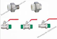 Nickel Plating Brass Full Flow PPR Ball Valve