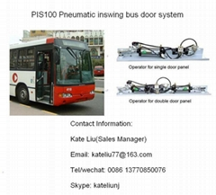 Pneumatic Inswing Bus Door System for city bus(Single Panel/Double Panel)