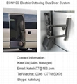 Electric outswing bus door system for