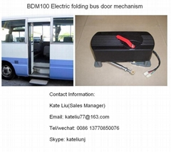 Electric bi-fold bus door opener  for city bus and minibus