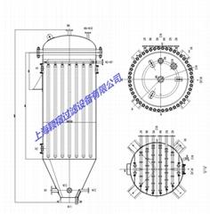 烛式过滤机 高效 精密澄清过滤 催化剂 PTA母液过滤器