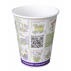 8 oz Live-Green Art™ Compostable Paper PLA Corn Plastic Lined Coffee Hot Cups