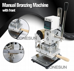 ZONESUN Hot Foil Stamping Machine Manual Bronzing Machine for PVC Card leather a