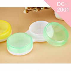 2018 new solid color design custom wholesale Polypropylene contact lens case
