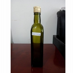 500ml square olive oil glass bottle dark green