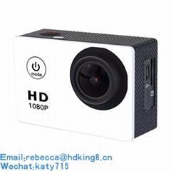 2018礼品720P户外防水运动摄像机 SJ4000迷你运动相机