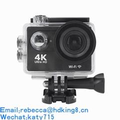 2018新款迷你防水4k運動相機帶wif高清潛水相機