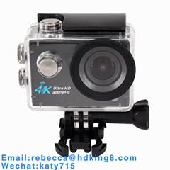 2寸LTPS4K30帧夜视补光灯手电筒SOS防水深30米运动相机